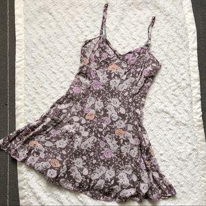Free People Mauve Floral Mini Dress